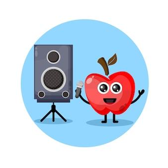 Apple karaoke süßes charakterlogo