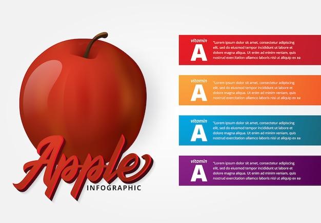 Apple konzept infografik
