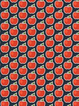 Apple-muster auf dunklem hintergrund