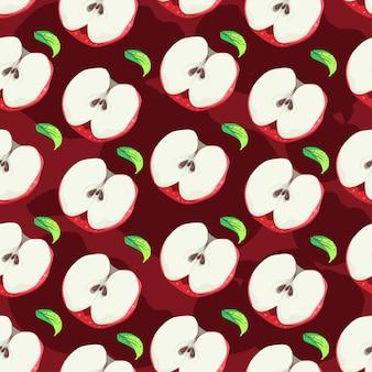Apple nahtlose muster-vektor-design