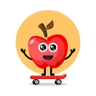 Apple skateboard niedliches charakterlogo