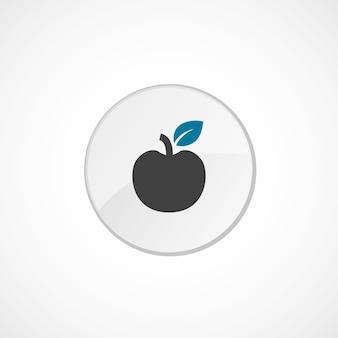 Apple-symbol 2 farbig, grau und blau, kreisabzeichen