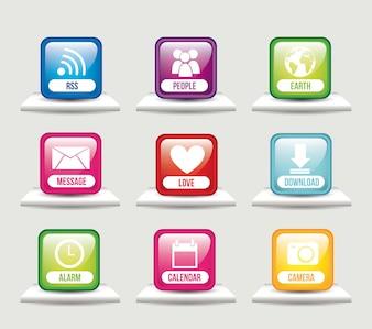 Apps über Regalen App Store-Vektor-Illustration