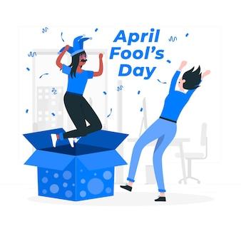 April narrentag konzept illustration