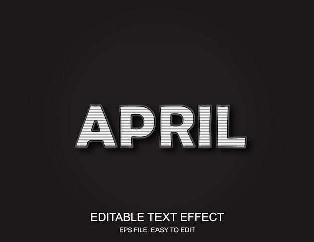 April retro texteffekt