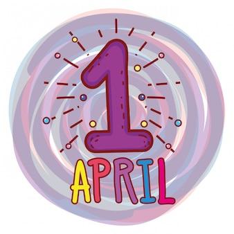 April zuerst zur narren-tagesfeier