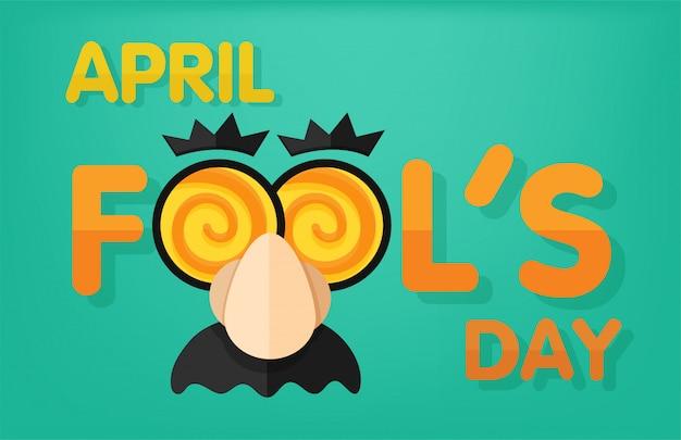 Aprilscherz mit einem lustigen gesicht im zungenlabor.