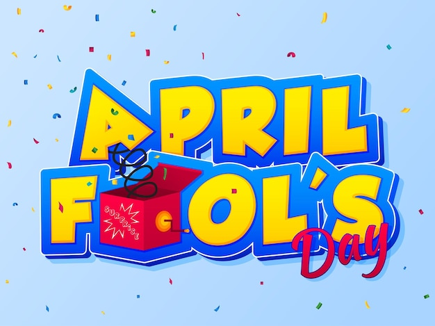 Aprilscherz schriftzug