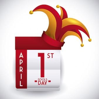 Aprilscherztagesdesign, vektorillustration.