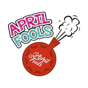 Aprilscherztageskarte mit furzkissenikone