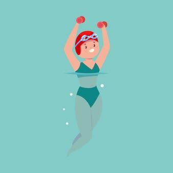 Aqua-aerobic im pool