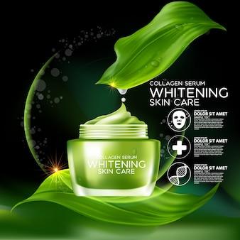 Aqua collagen serum konzept kosmetik für die haut