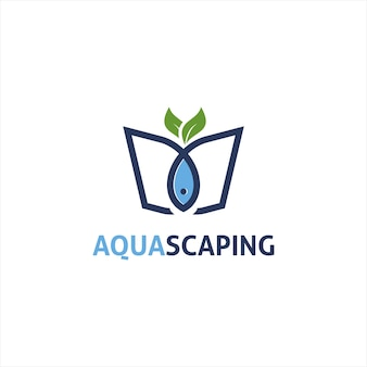 Aqua-scape-logo-design-vektor-illustration