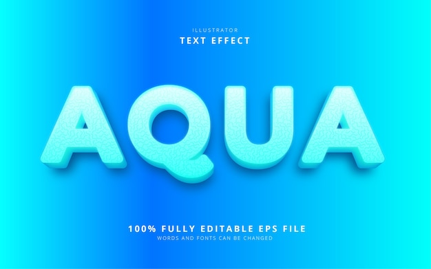 Aqua text effekt