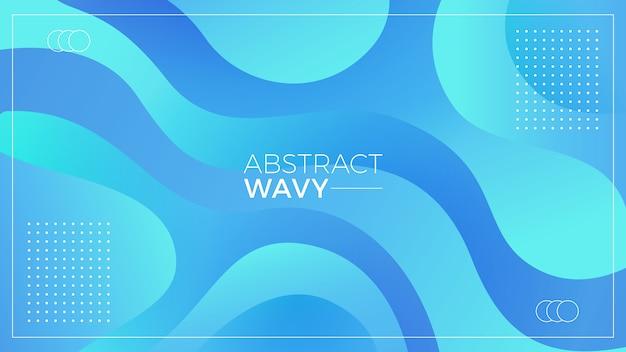 Aqua-wellenförmiger abstrakter hintergrund