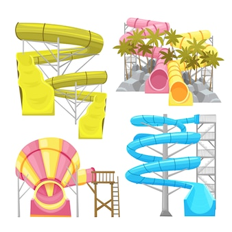 Aquapark equipments bilderset