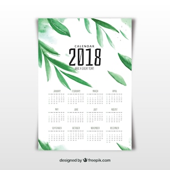 Aquarell 2018 kalender