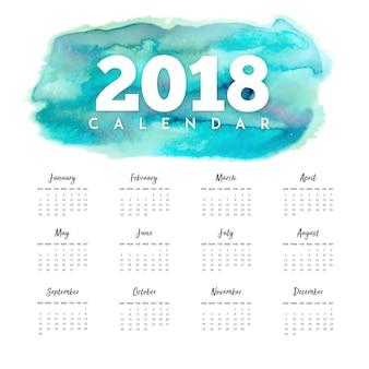 Aquarell 2018 neujahr jahreskalender