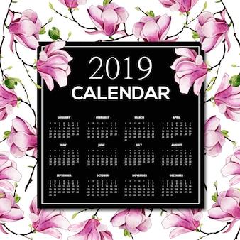Aquarell 2019 blumenkalender