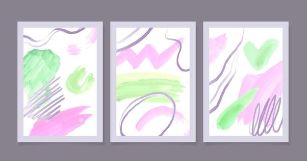 Aquarell abstrakte abdeckungen gesetzt