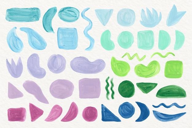 Aquarell abstrakte formensammlung