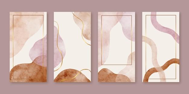 Aquarell abstrakte moderne organische flüssige form Premium Vektoren