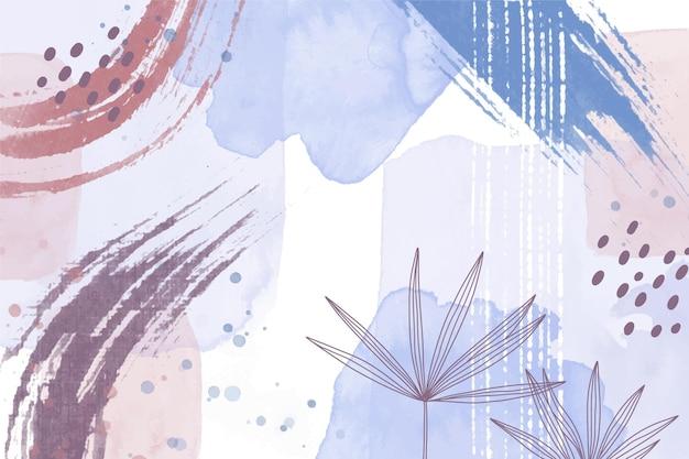 Aquarell abstrakter hintergrund mit blättern