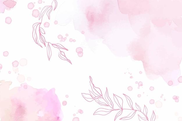 Aquarell abstrakter rosa hintergrund