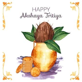 Aquarell akshaya tritiya illustration