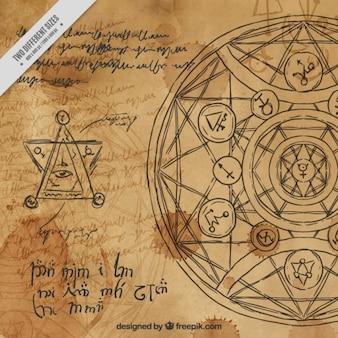 Aquarell alchemie hintergrund