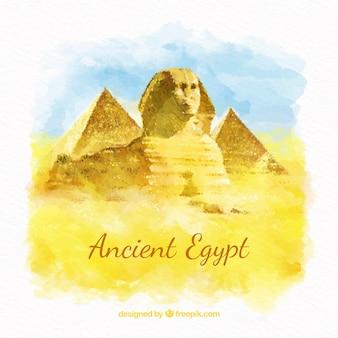 Aquarell alte ägypten zusammensetzung