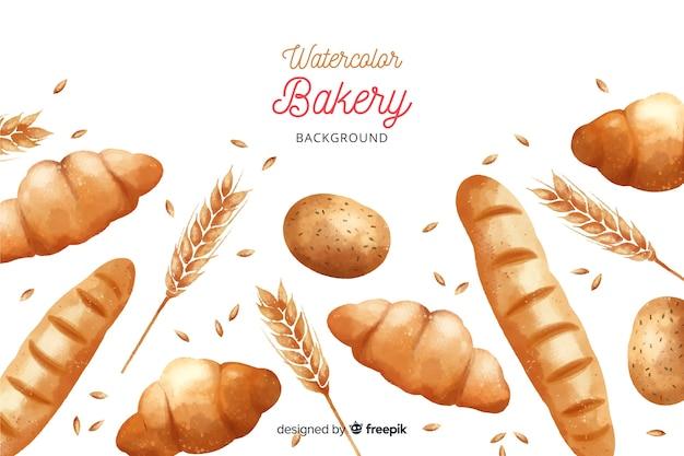 Aquarell bäckerei hintergrund