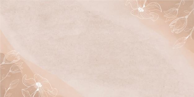 Aquarell banner mit blumen