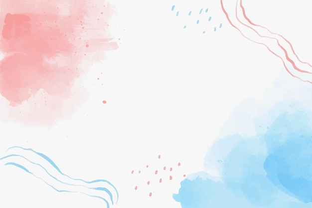 Aquarell blaue und rote formen hintergrund