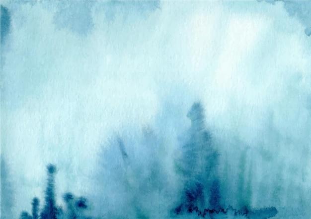 Aquarell blauer abstrakter texturhintergrund