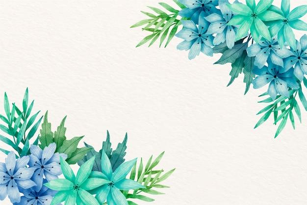 Aquarell blüht hintergrund in den pastellfarben