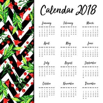 Aquarell blumenkalender 2018
