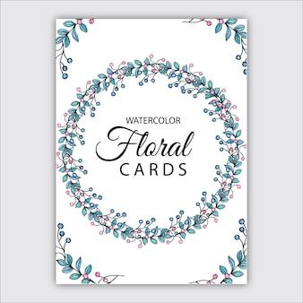 Aquarell blumenkarten