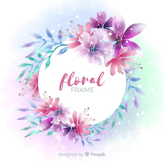 Aquarell Blumenrahmen