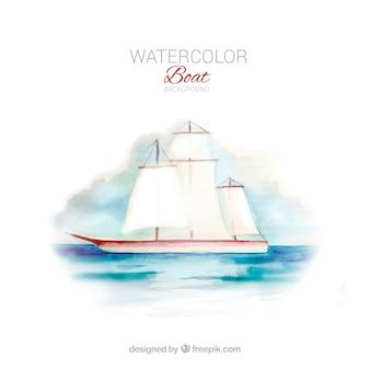 Aquarell boot hintergrund