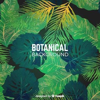 Aquarell botanischer hintergrund