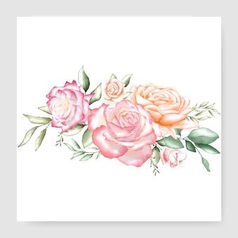 Aquarell bouquet design