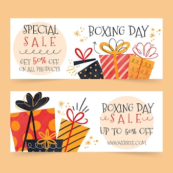 Aquarell boxing day sale banner