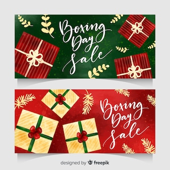 Aquarell boxing day verkauf banner