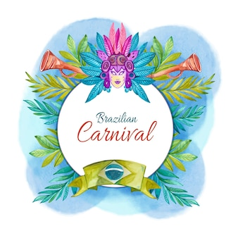 Aquarell brasilianischer karnevalskonzept