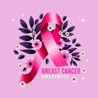 Aquarell brustkrebs-bewusstseinsmonatsillustration