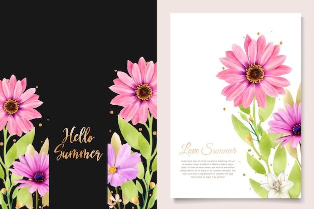Aquarell chrysanthemum hochzeit einladungskarte