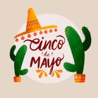 Aquarell cinco de mayo illustration