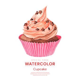 Aquarell cupcakes