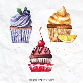 Aquarell-cupcakes